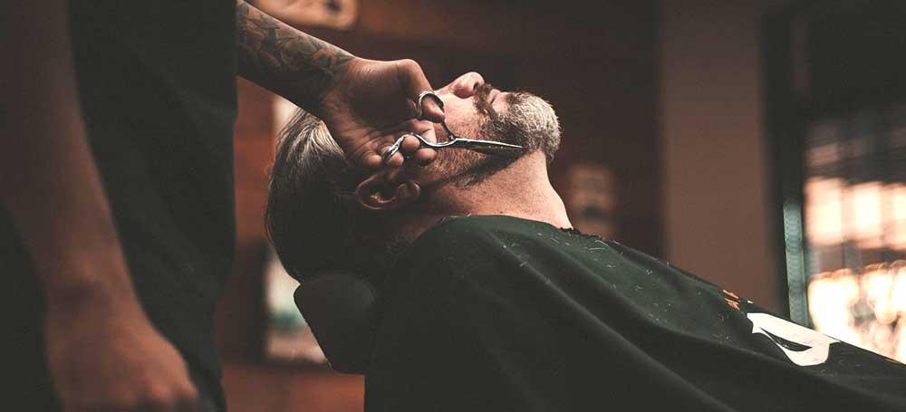 BAD NORWEGIAN at the barber beard